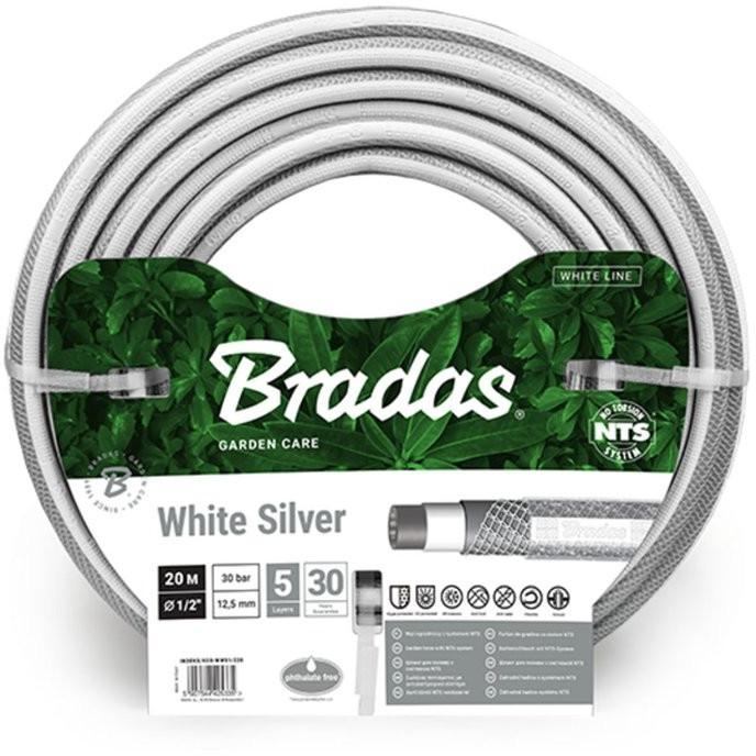 """Bradas Bewässerungsschlauch NTS White Silver 1/2"""" 20m (WWS1/220)"""