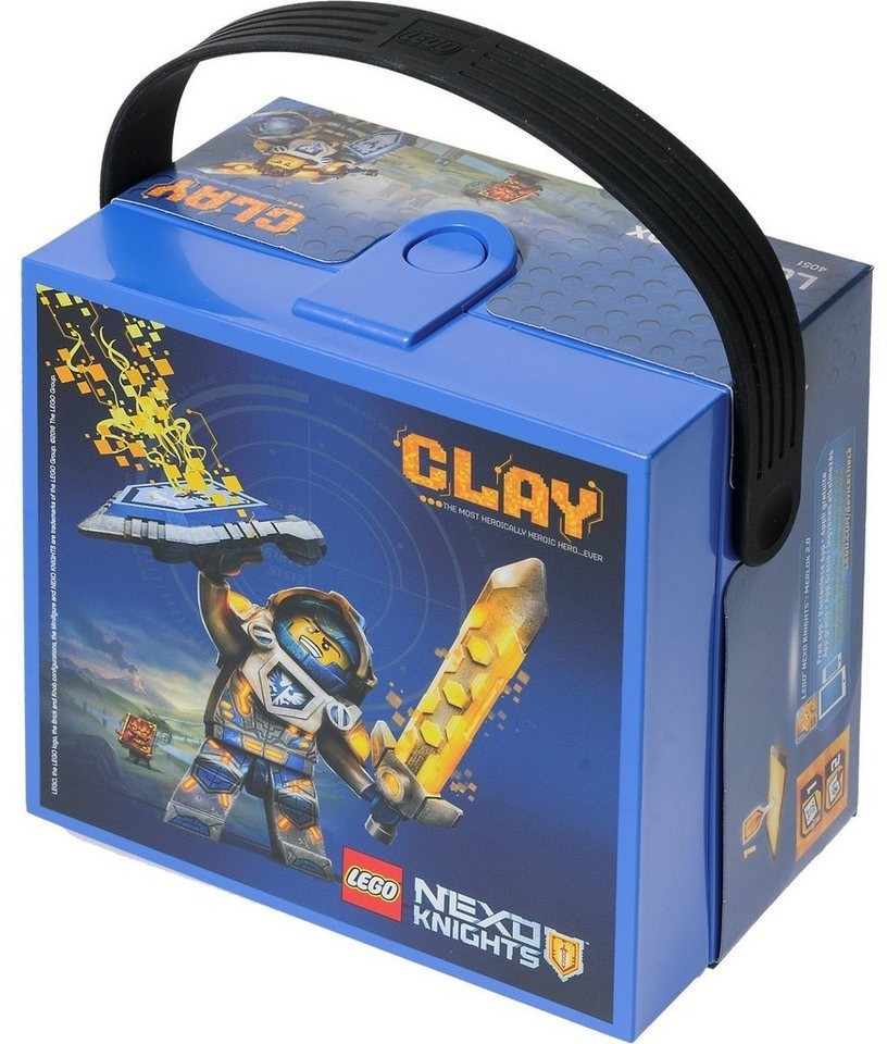 LEGO Lunch Box with handle Nexo Knights blue