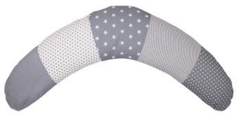 Image of Ullenboom Patchwork Nursing Pillow stars grey