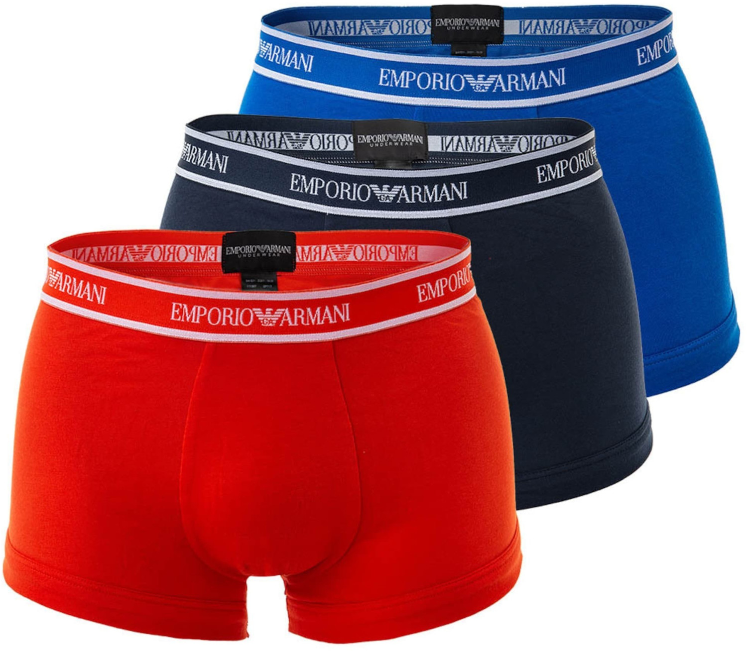 Image of Emporio Armani 3-Pack Trunks (111357-0P717-66935)