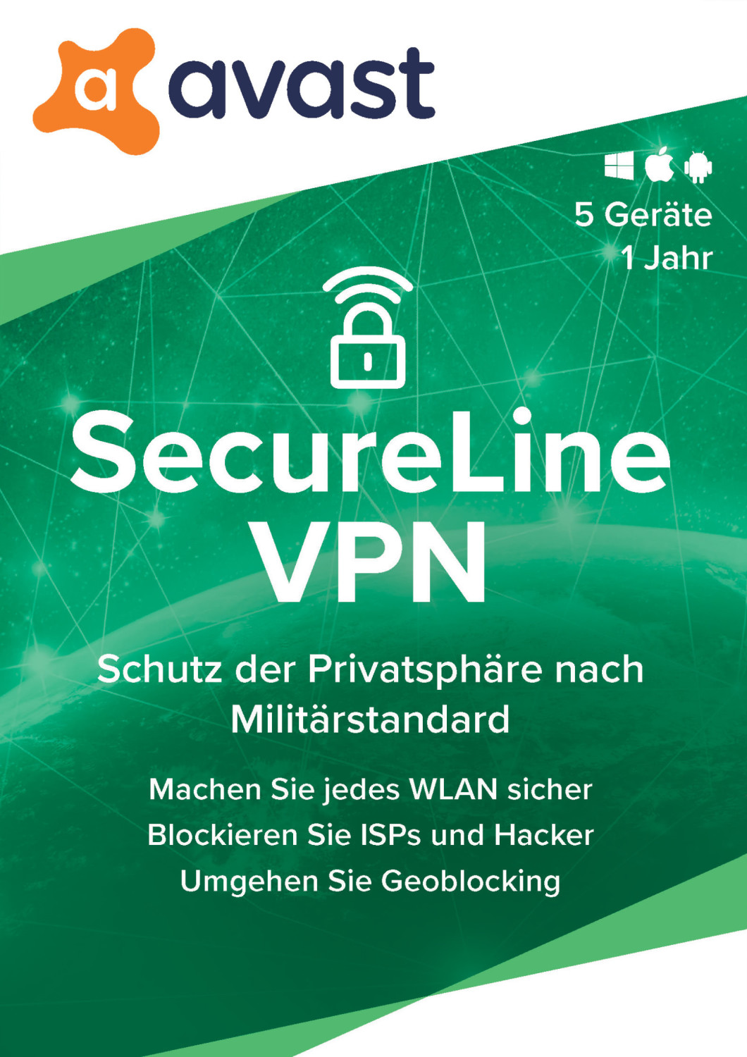 Image of Avast SecureLine VPN 2020 (5 Devices) (1 Year)