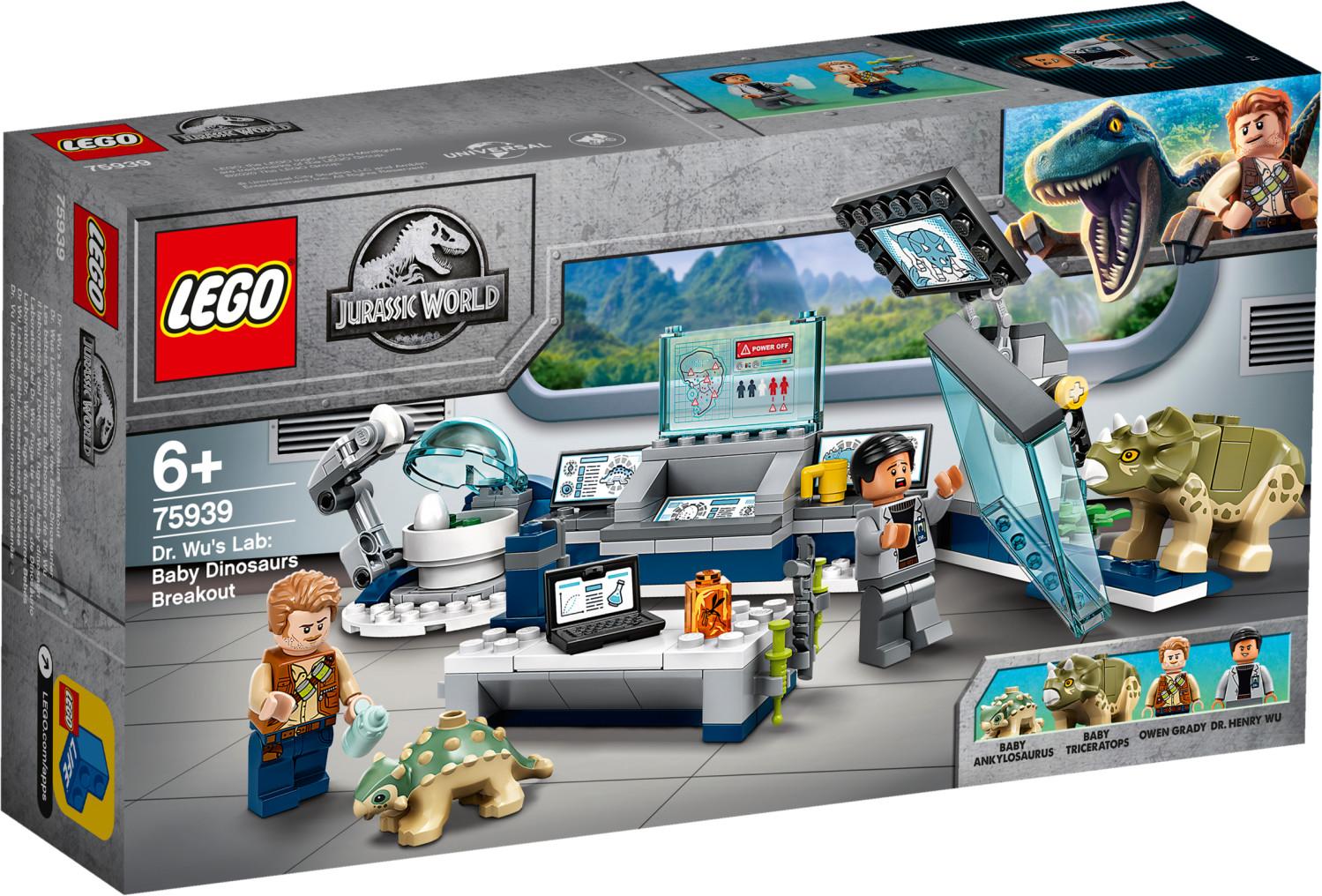 LEGO Jurassic World - Le labo de Dr Wu : l'évasion des bébés dinosaures (75939)