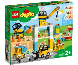 LEGO DUPLO EISENBAHN KRAN BAUSTELLE DREHPLATTE DREHSCHEIBE.ROT WEISS  NEU