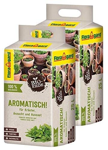 Floragard Bio-Erde Aromatisch 2x25 l - für Anzucht und Aussaat sowie für Kräuter