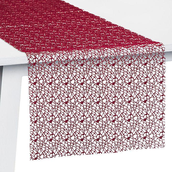 Pichler Textil Network Tischläufer 45 x 140 cm burgund