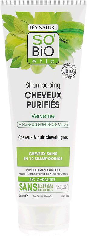 SO'Bio étic Shampoo mit Eisenkraut & Zitronen-Öl (250 ml)