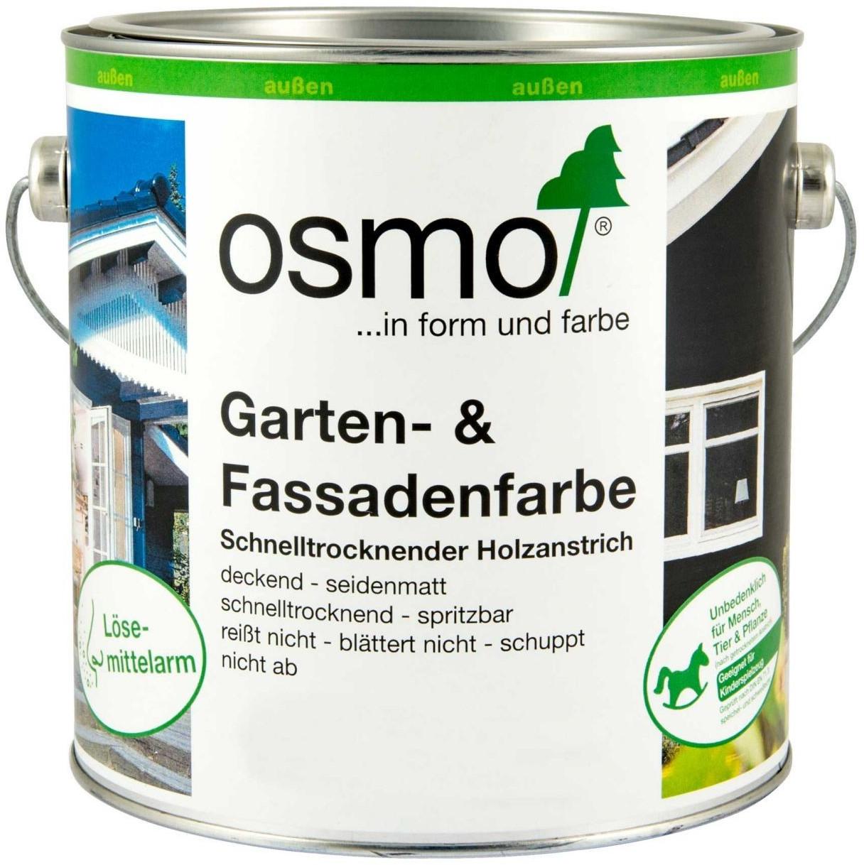 Osmo Garten und Fassadenfarbe 0,75 Liter Anthrazitgrau