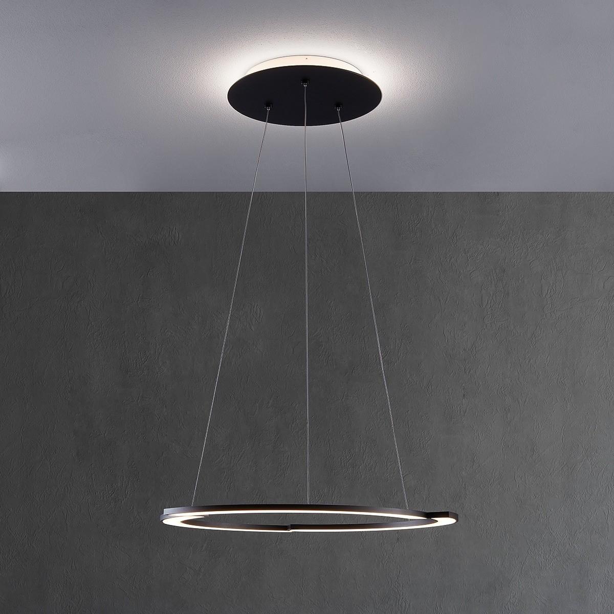 Escale Arc LED Pendelleuchte schwarz