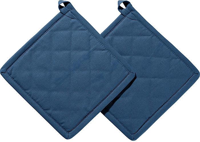 REDBEST Topflappen Seattle im 2er-Pack blau 20x20 cm