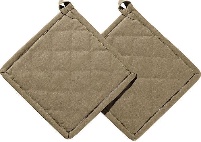REDBEST Topflappen Seattle im 2er-Pack braun-beige 20x20 cm
