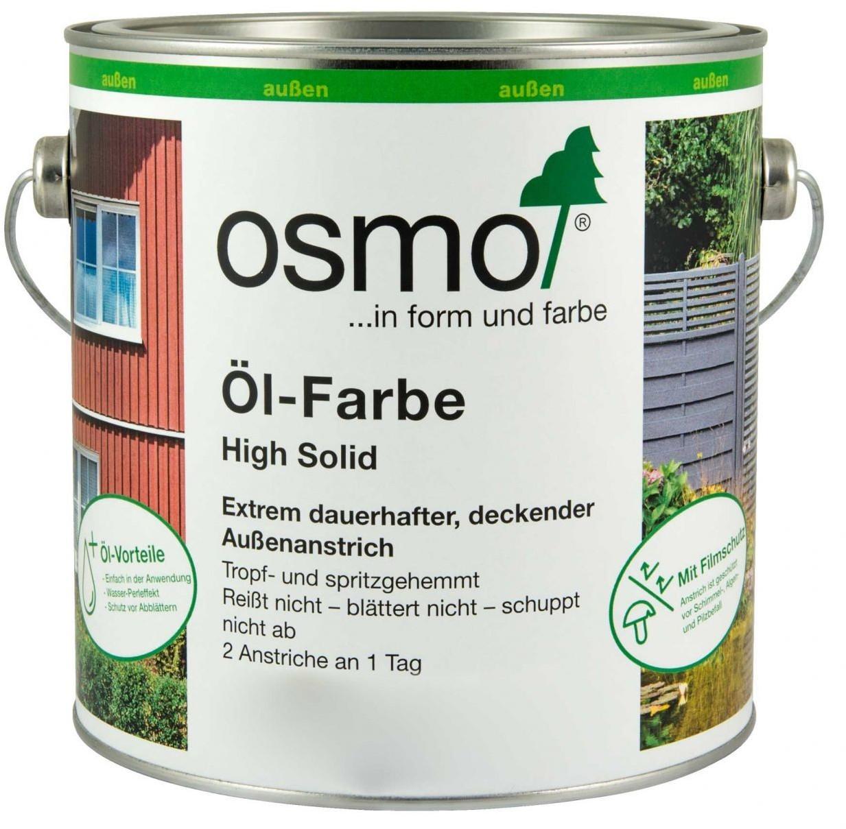 Osmo Öl-Farbe High Solid 2,5 l Steingrau