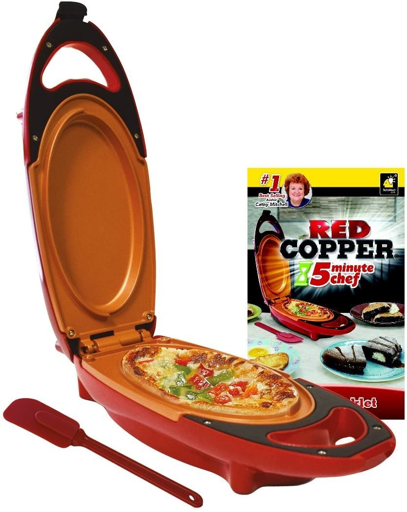 Image of High Street TV Red Copper 5-Minute Chef - Non-Stick Omelette Pan