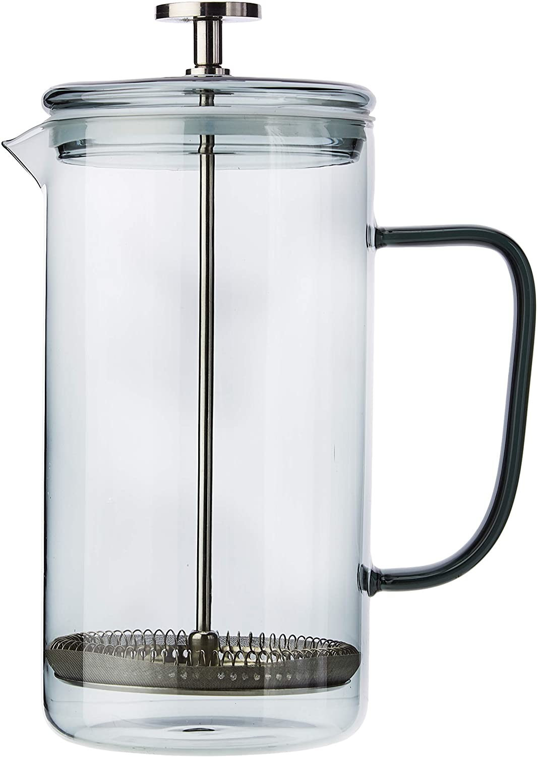 Image of La Cafetiere 8-Cup Borosilicate Glass Cafetière Smoky Grey