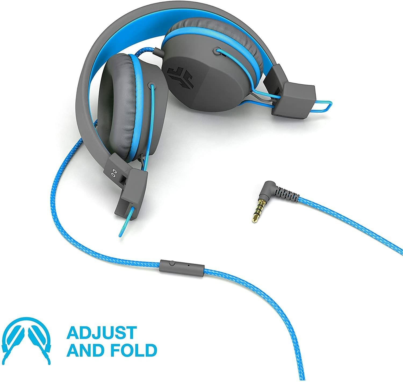 Image of JLab Audio Jbuddies Studio, Over Ear Kids Headphones With Mic Graphite/Blue