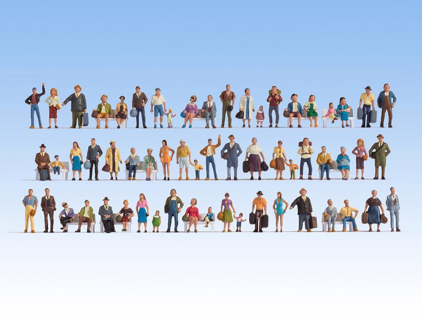 Noch Mega-Spar-Set Figuren 60 Figuren, ohne Bänke (16070)