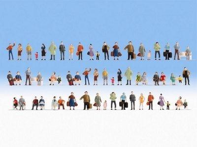 Noch Mega-Spar-Set Figuren 60 Figuren, ohne Bänke (47401)