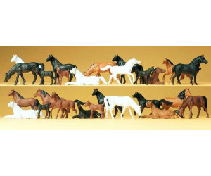 Preiser Pferde. 26 Figuren (14407)
