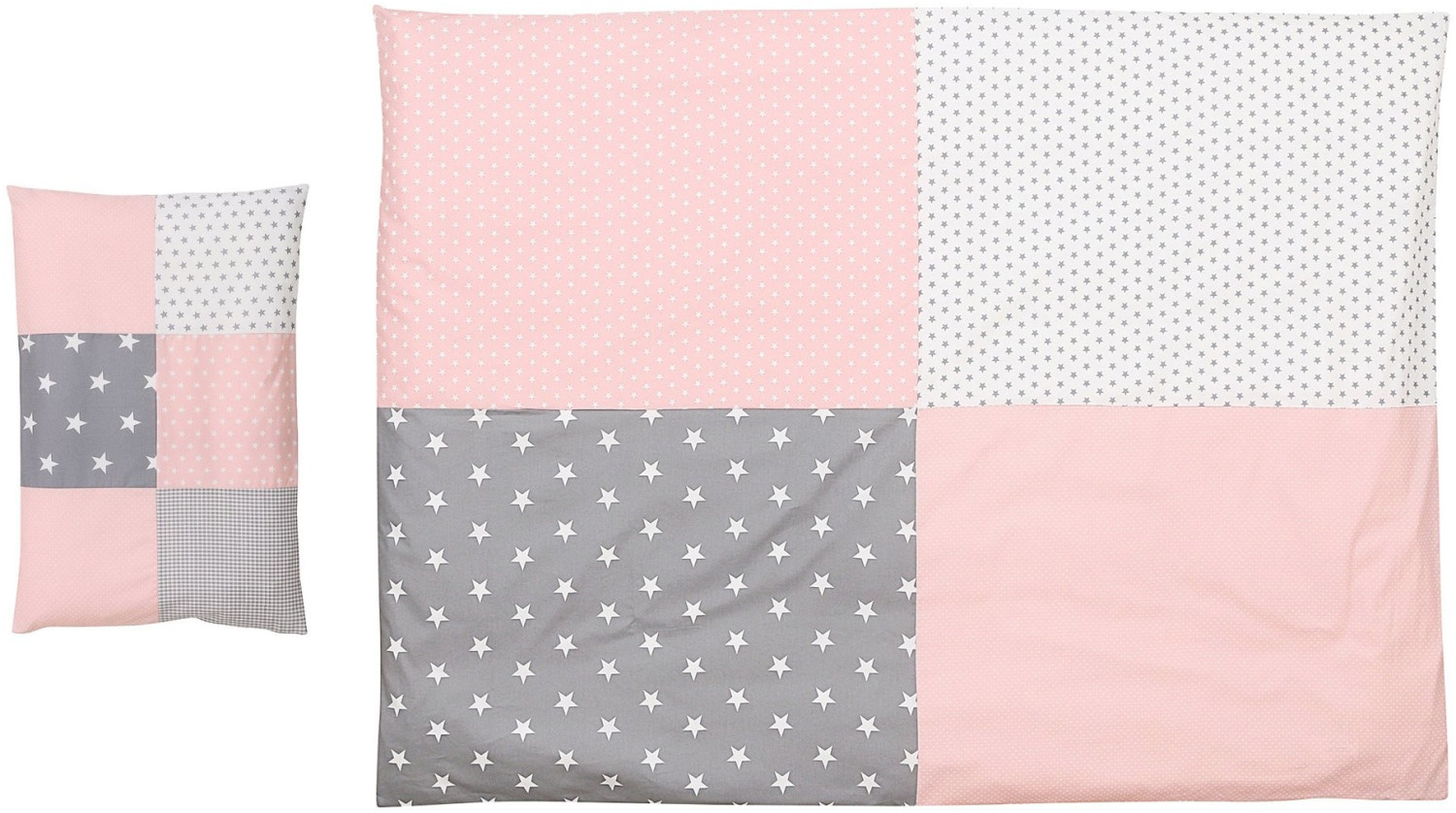 Image of Ullenboom Kids Bedding-Set pink/grey
