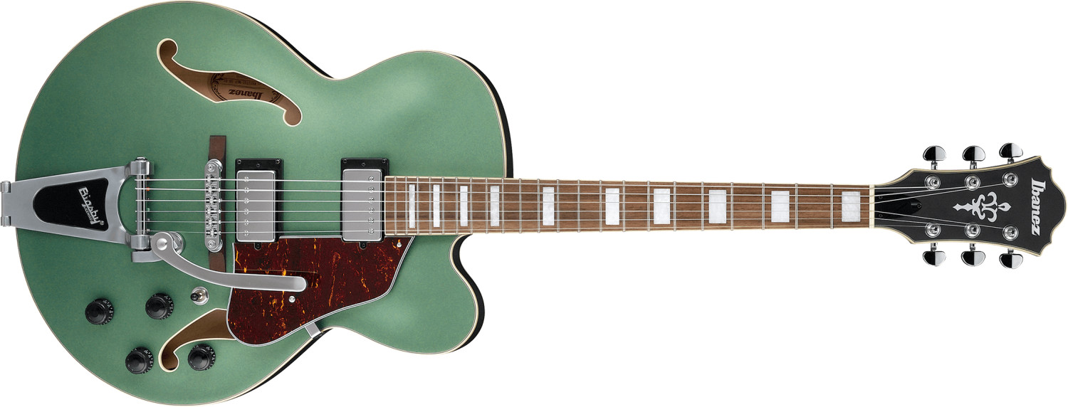 Image of Ibanez AFS75T-MGF Metalic Green Flat