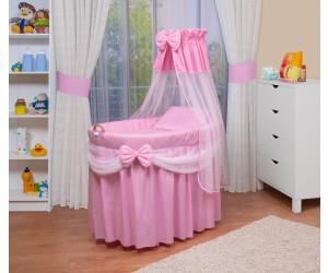 Waldin Baby Stubenwagen-Set (1205) rosa/weiß