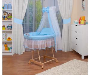 Waldin Baby Stubenwagen-Set (1203) blau/weiß