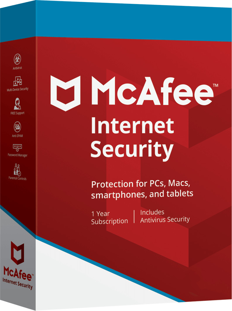 Image of McAfee Internet Security 2020 (Unlimited Devices) (1 Year)