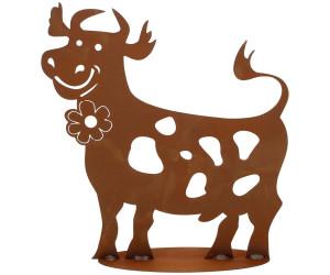 Ferrum Art lustige Kuh mit Blume groß 60 cm