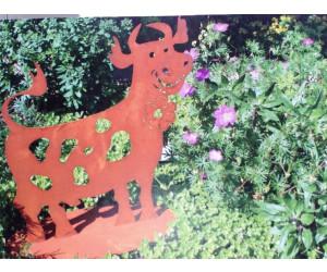 Ferrum Art Kuh Liselotte mit Blume klein 44 cm