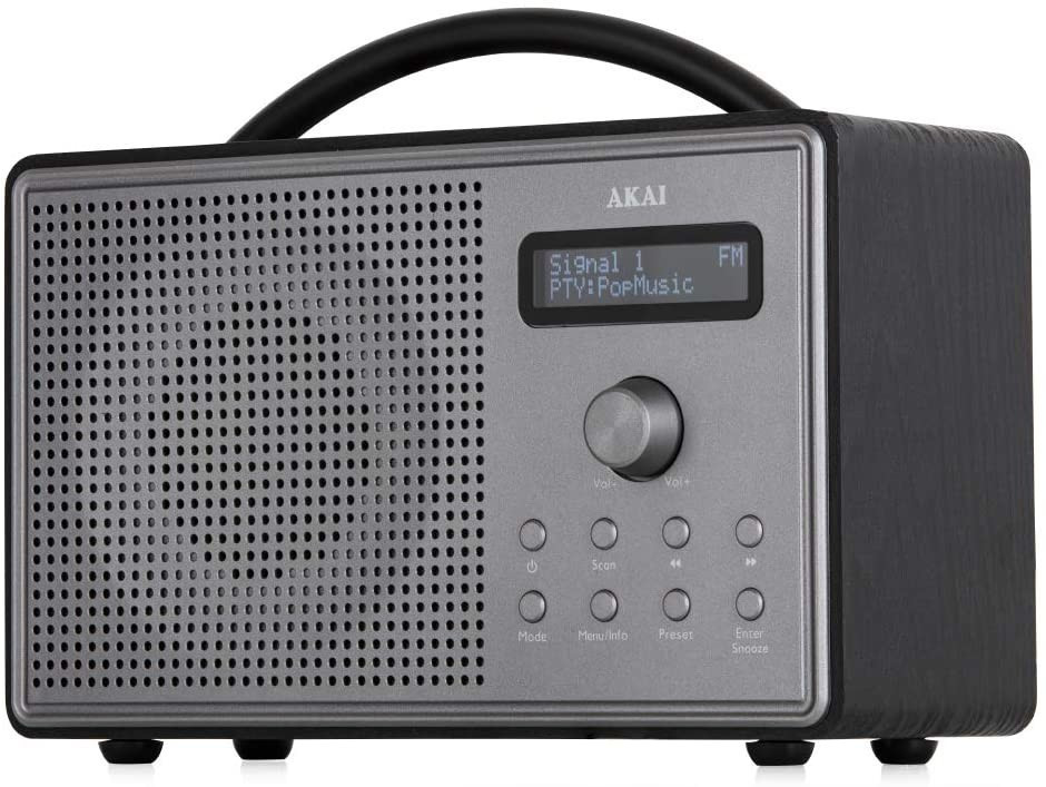Image of Akai A61035 Mono DAB/FM Radio and Alarm Function with LCD Backlight Screen