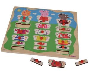 Eichhorn Peppa Pig Mix und Match Steckpuzzle aus Holz