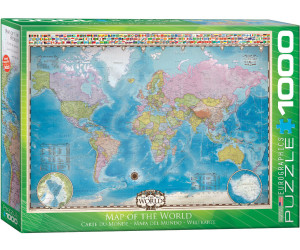 Eurographics Puzzles Map of the World 1000 Teile Puzzle (6000-0557)