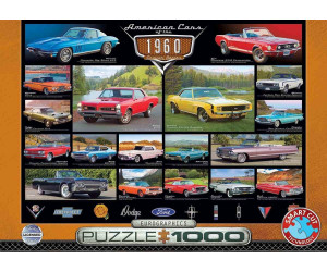 Eurographics Puzzles American Cars of the 1960s 1000 Teile Puzzle (6000-0677)
