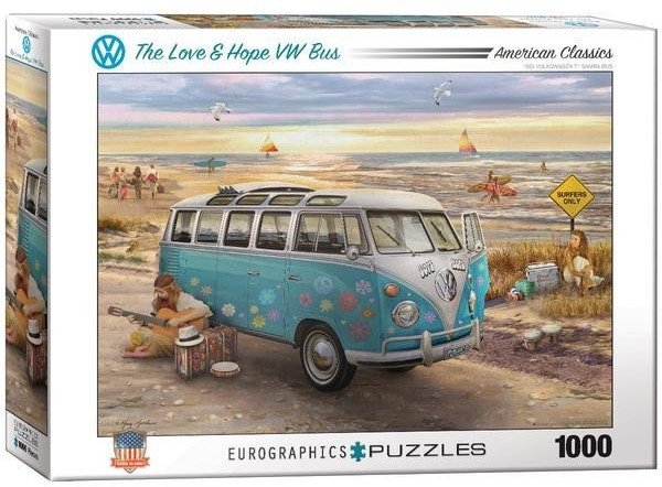 Eurographics Puzzles The Love & Hope VW Bus 1000 Teile Puzzle (6000-5310)