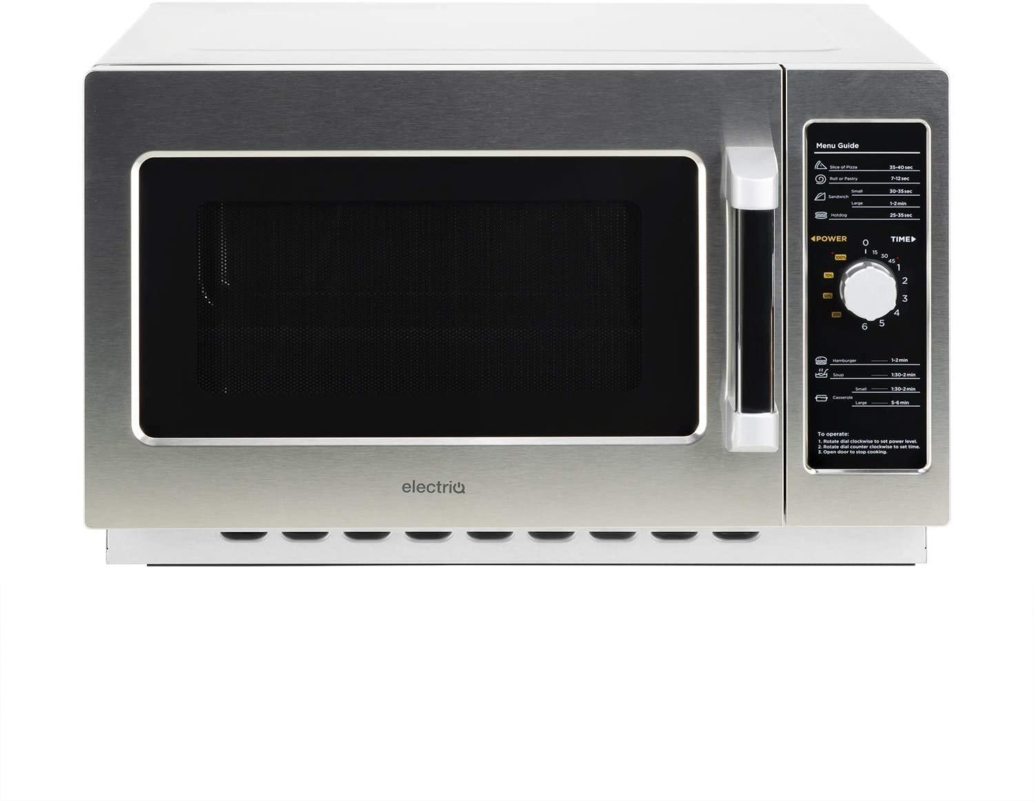 Image of ElectrIQ 34l 1200w Commerical Microwave in Stainless Steel