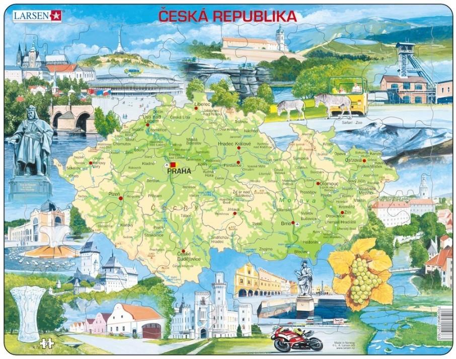 Larsen Tschechische Republik (auf Tschechisch) 78 Teile - K76