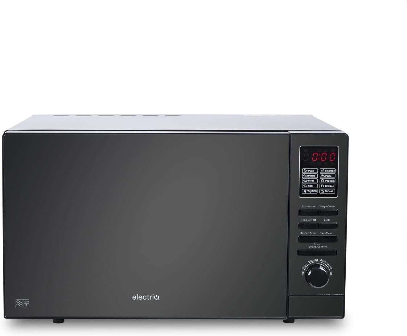 Image of ElectrIQ 25L Digital 900W Freestanding Microwave - Black