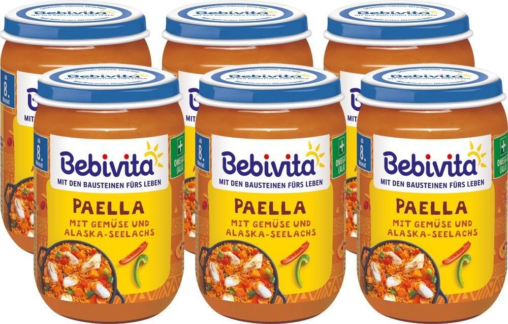 Bebivita Paella mit Gemüse und Alaska-Seelachs (6 x 220 g)