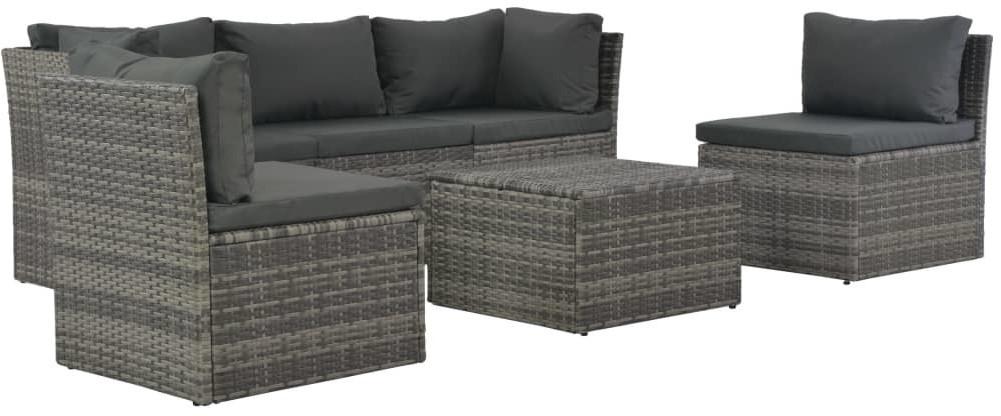 vidaXL Garten-Lounge-Set mit Polstern 4-tlg.