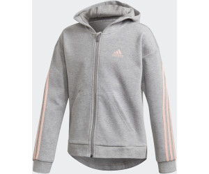 Adidas 3 Stripes Hooded Jacket Kids medium grey heatherhaze