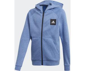 Adidas Must Haves Hooded Jacket Kids blue mel. (FM4826) ab