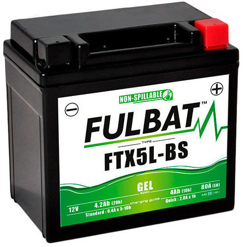 Fulbat 12V 4Ah FTX5L-BS
