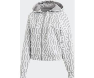 Adidas Allover Print Kapuzenjacke Women medium grey heather (FL4225)