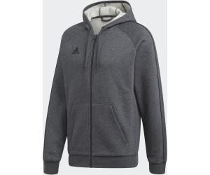Adidas Core 19 Kapuzenjacke dark grey heather/black (FT8070)