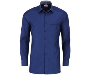 Marvelis Modern Fit Hemd New Kent Kragen bügelfrei Muster Dunkelblau Baumwolle
