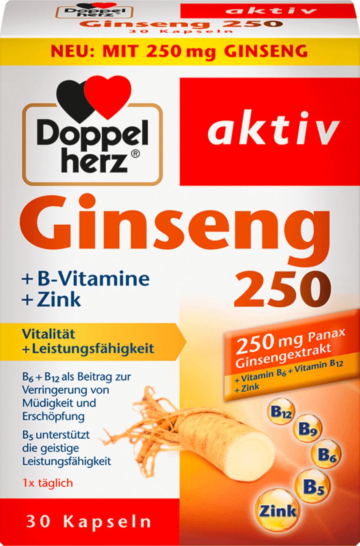 Doppelherz aktiv Ginseng 250 + B-Vitamine + Zink Kapseln (30 Stk.)