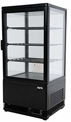 Saro Kühlvitrine Modell SC 80 schwarz