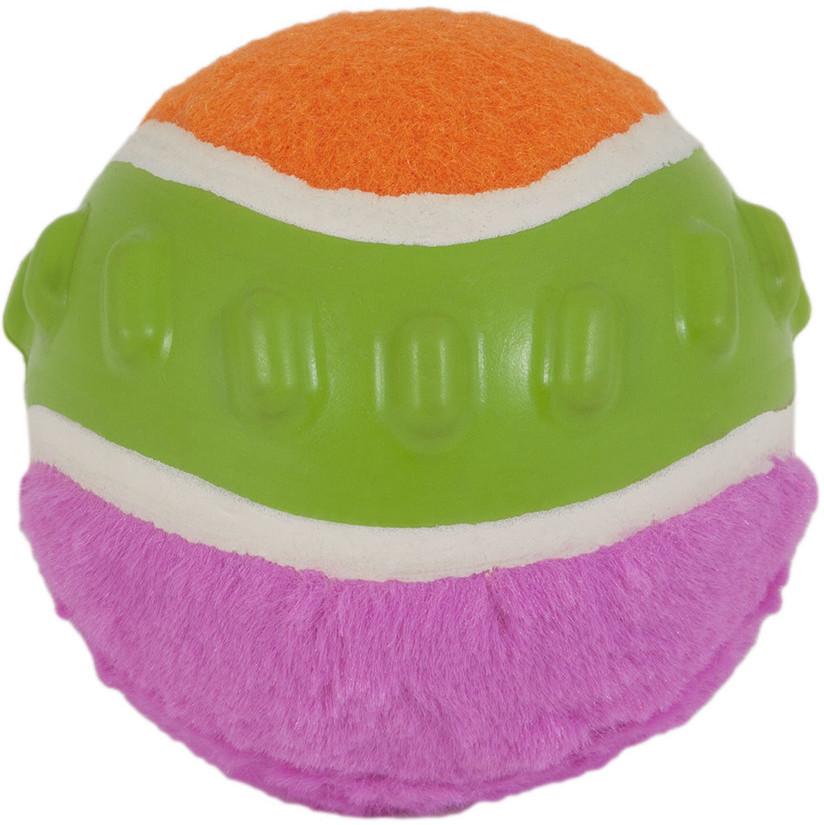 Petmate JW Pet Mixups Ribbed Ball Hundeball, Large, 10 cm (pink, orange oder grün)