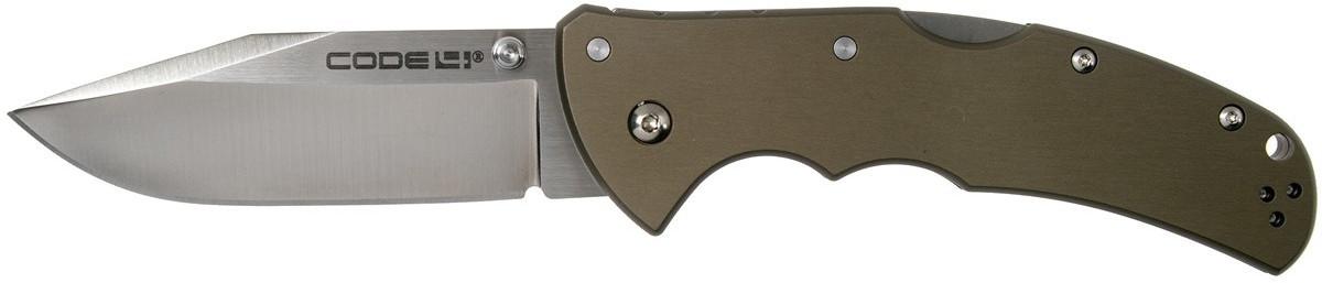 Cold Steel Code 4 Spear Point CPM S35VN plain edge