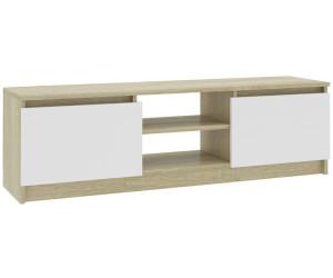 vidaXL Lowboard White Sonoma Oak 120 x 30 x 35,5 cm