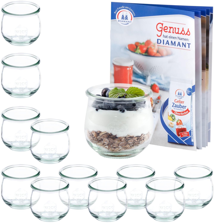 MamboCat 12er Set Weck Gläser 370ml Tulpenglas